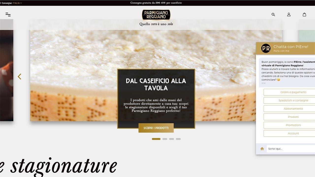 Consorzio del Parmigiano Reggiano, online l'agente conversazionale di Heres.ai