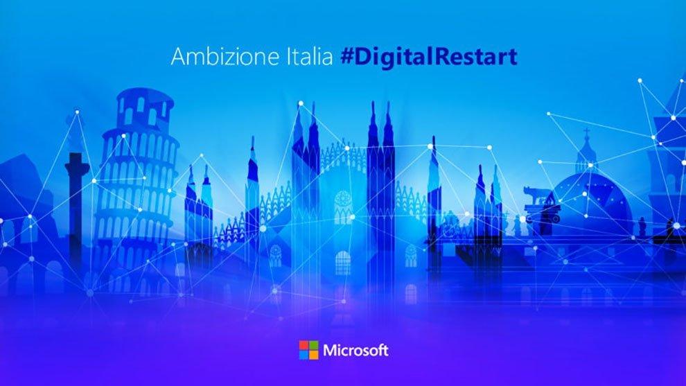Microsoft investe in Italia sul digitale con Ambizione Italia #DigitalRestart