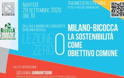 All'Università Milano-Bicocca le lezioni ripartono dalla sostenibilità