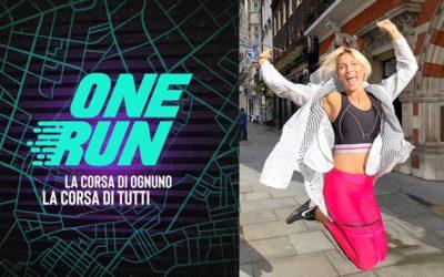 One Run - La corsa di ognuno, la corsa di tutti. Federica Fontana è la madrina