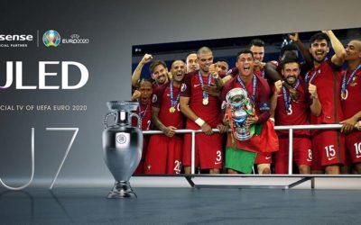 Televisore Hisense U7, il modello ufficiale degli europei di calcio 2020