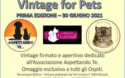 """Milano per gli animali, al via la prima edizione di """"Vintage for pets"""""""