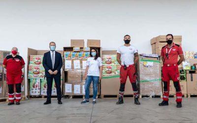 Donazione in prodotti alla Croce Rossa Italiana da Amazon, per un valore di 150 mila euro