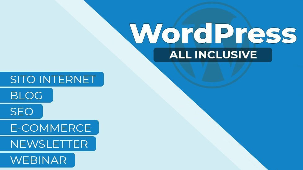 Sito, Blog, SEO, E-Commerce, Newsletter e Webinar tutto in WordPress? E' possibile!