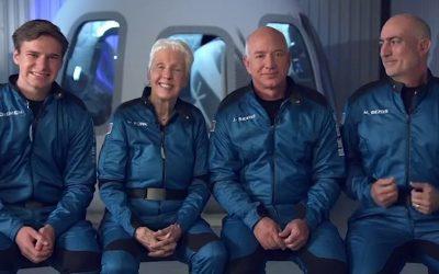 Jeff Bezos nello spazio, ha raggiunto 106 chilometri con la capsula New Shepard