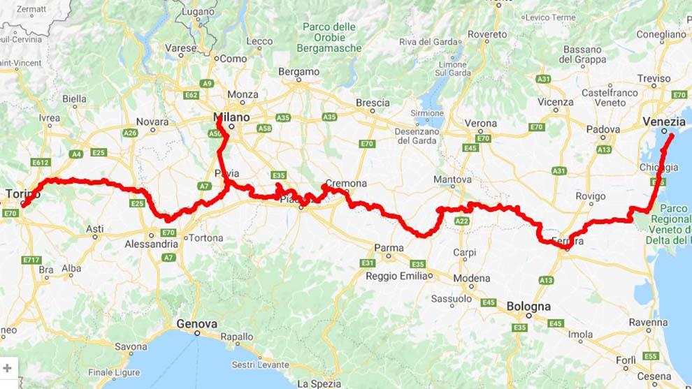 Vento, la ciclabile Venezia-Torino passa anche da Milano